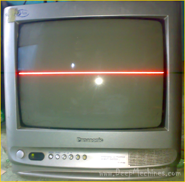 "Kerusakan muncul Garis di Tengah Layar TV Panasonic P-ten 14"" (TC14P10SB)"