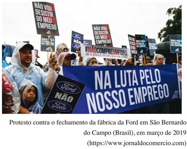 Protesto contra o fechamento da fábrica da Ford em São Bernardo