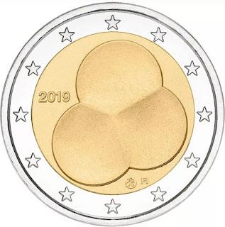 2€ kolikko hallitusmuoto 2019