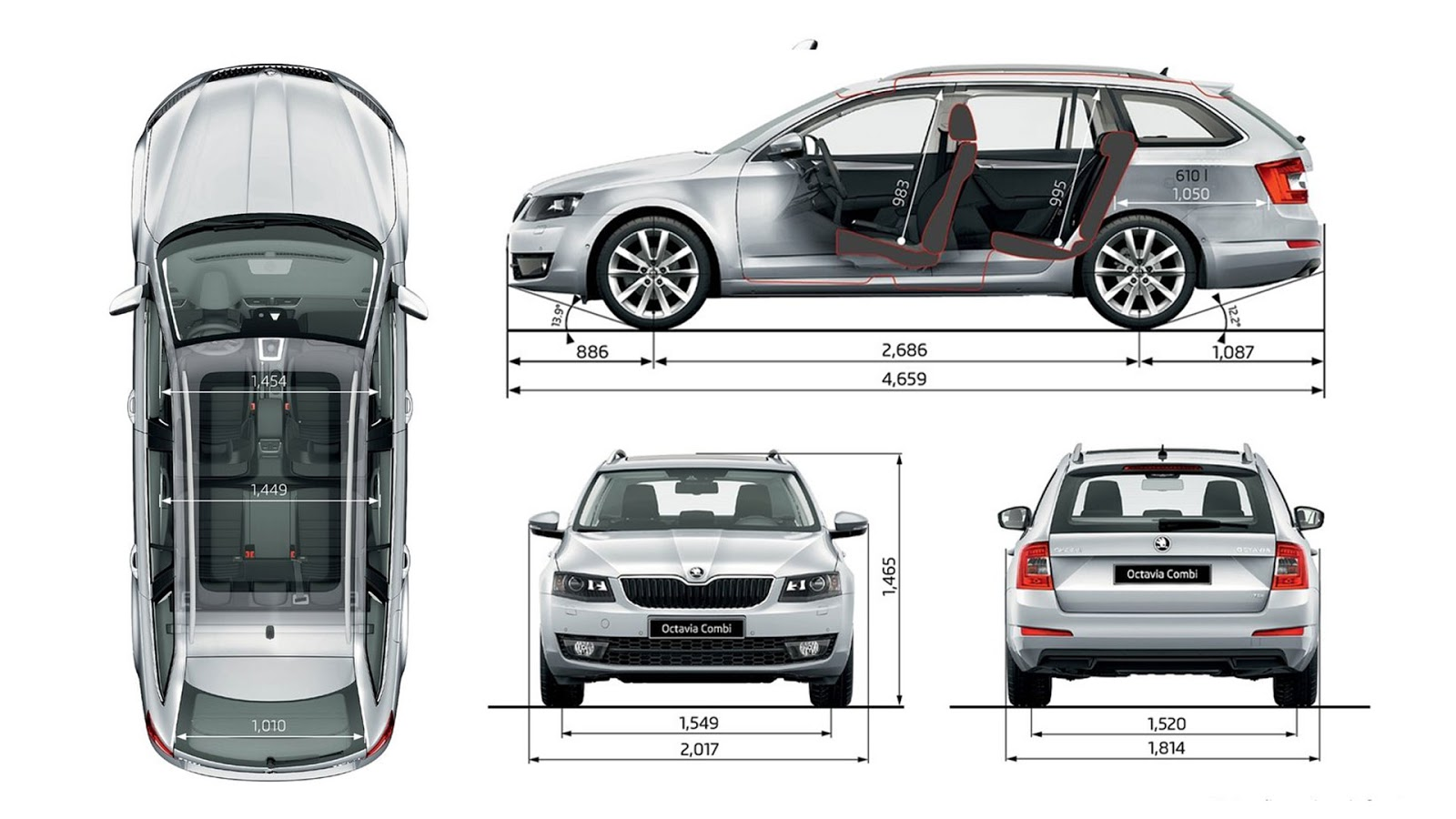 vw cars vw passat skoda octavia combi wagon blueprint drawing. Black Bedroom Furniture Sets. Home Design Ideas