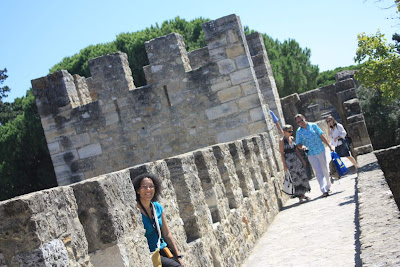 Battlement of the Castelo de Sao Jorge in Lisboa
