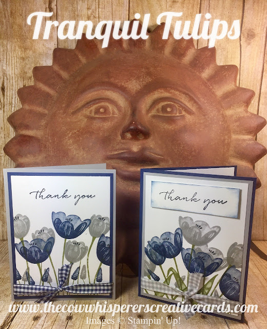 Tranquil Tulips, Water Color, Night of Navy, Smoky Slate, Thank You, Stampin Up