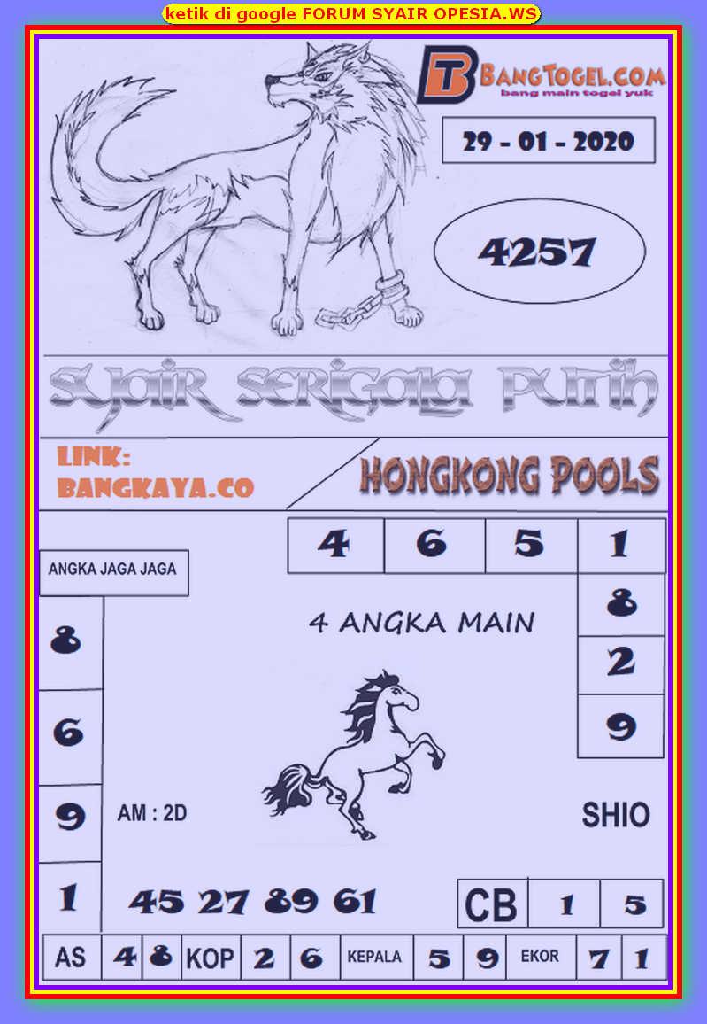 Kode syair Hongkong Rabu 29 Januari 2020 114