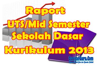 Aplikasi Raport Sisipan SD Kurikulum 2013 Kelas 1 sampai 3 Semester 2 Sederhana Mudah