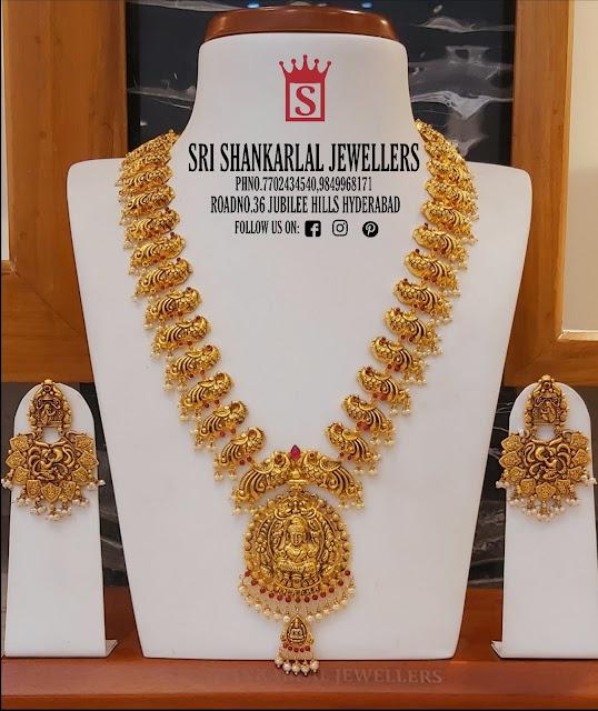 Peacock Haram Chandbalis by Shankarlal