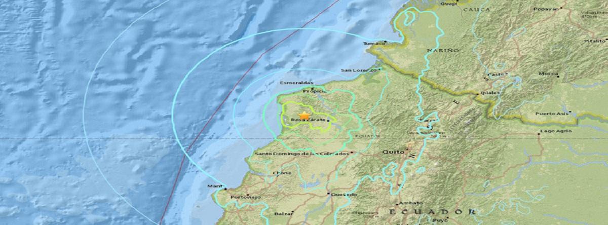Temblor de tierra de magnitud 6,7 sacude Ecuador