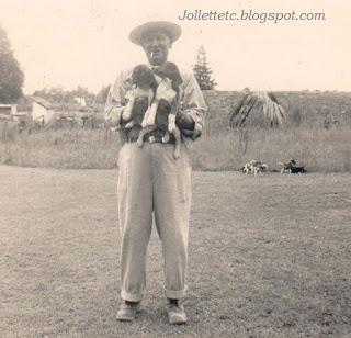 Fred Slade Sr and his beagles https://jollettetc.blogspot.com