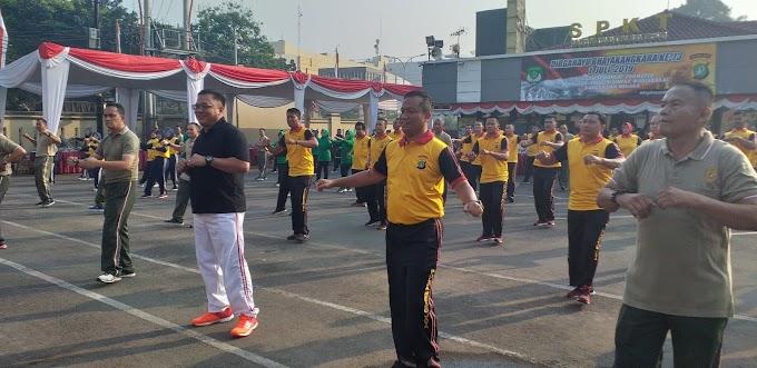 Tiga Pilar Kota Depok Kompak Olahraga Bersama