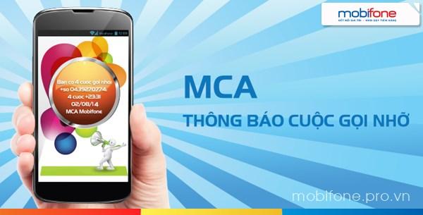 Đăng ký dịch vụ thông báo cuộc gọi nhỡ MCA Mobifone