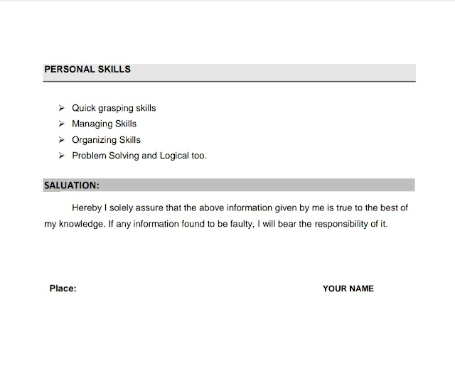 prepare Resume for freshers sample, u2dt, u2dt.in