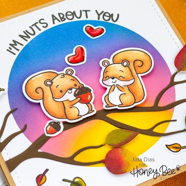 Nuts About You, Fall Scene Card, circle spotlight stencil, Card Making, Stamping, Die Cutting, handmade card, ilovedoingallthingscrafty, Stamps, how to,Ink Blending,distress oxide inks,Autumn Afternoon Release,