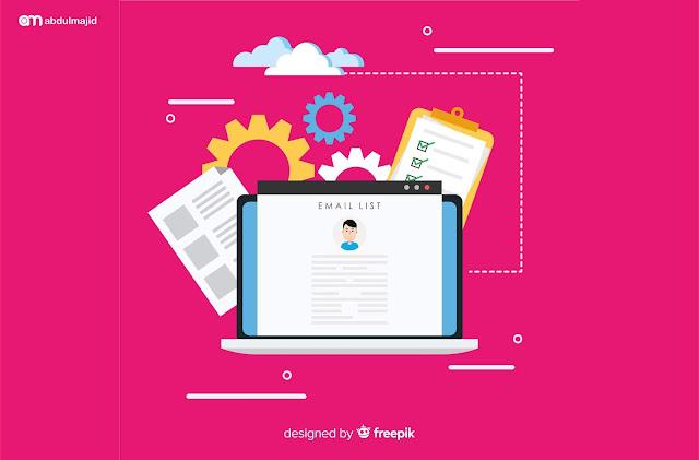list email dan pustaka