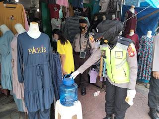 Terapkan Protokol Kesehatan, Polres Pelabuhan Makassar gencar berikan Edukasi di Keramaian
