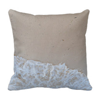 Sand on sea shore throw pillow