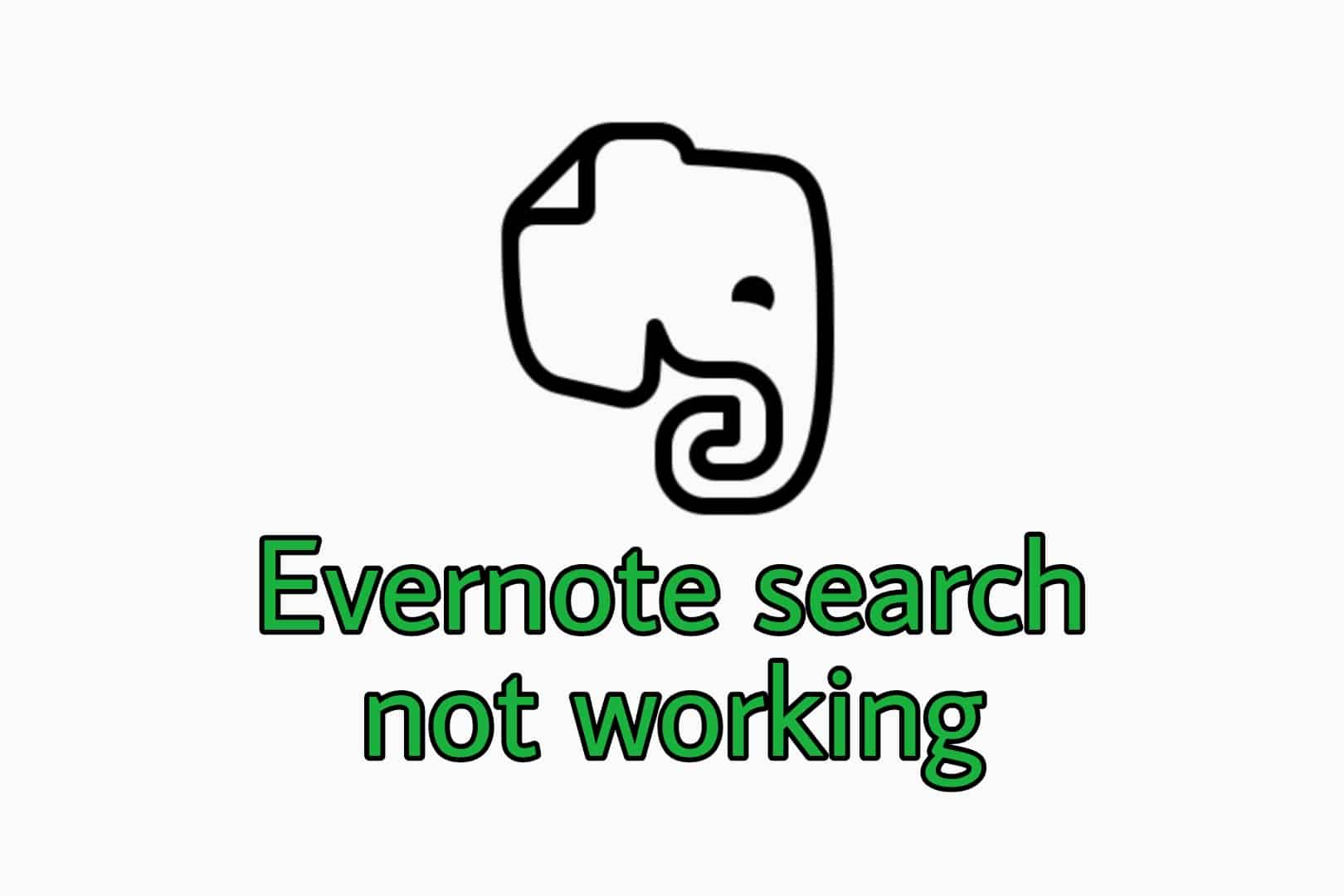 Evernote search not working