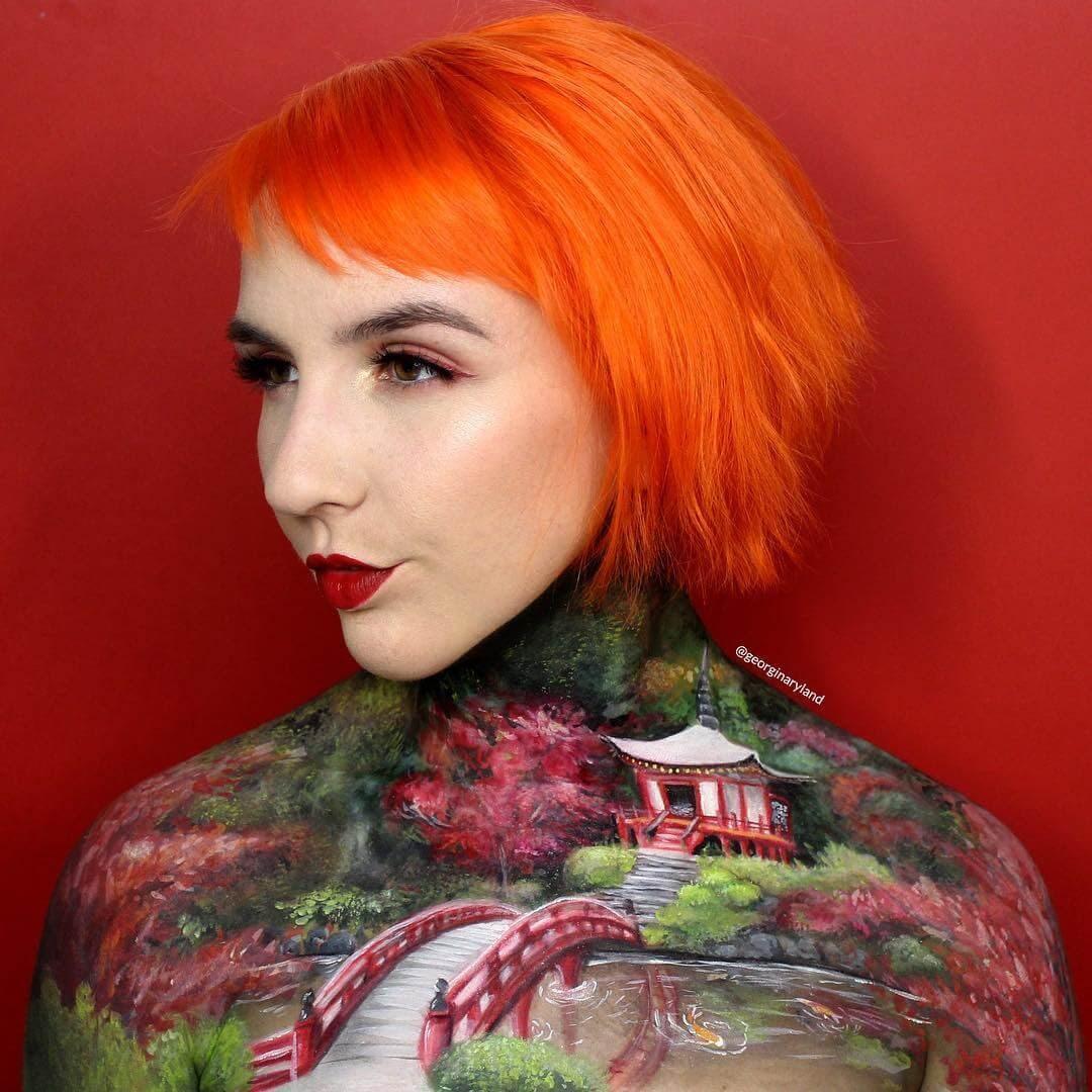 09-Japanese-Garden-Georgina-Ryland-Mehron-Makeup-Body-Painting-www-designstack-co