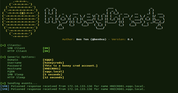 HoneyCreds : Network Credential Injection To Detect Responder And Other Network Poisoners