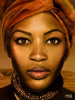 """Imagen de Devian-art, artista: Cyzeal, obra. """"A woman"""""""
