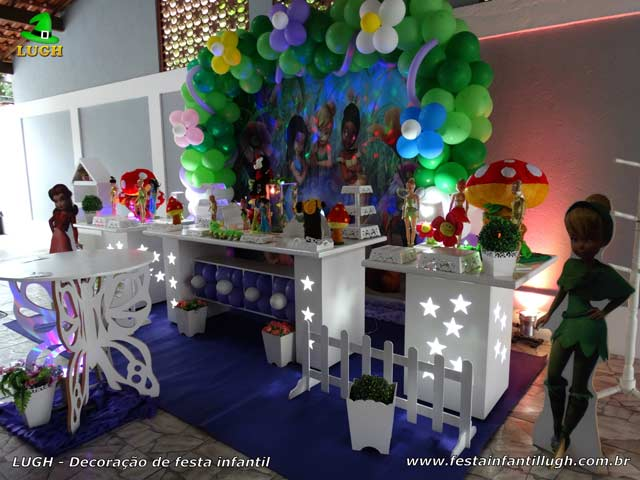 Decoração provençal de aniversário tema Tinker Bell