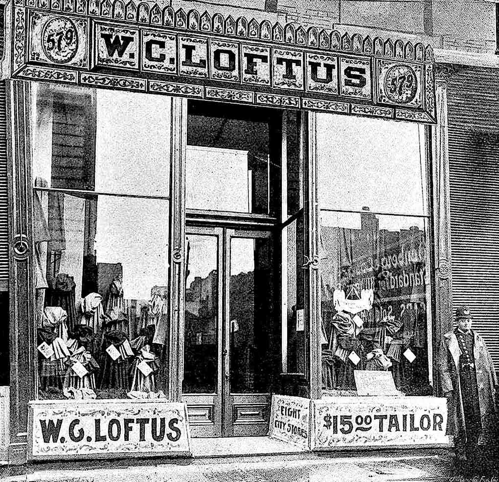 an 1895 shoplifting policeman photograph