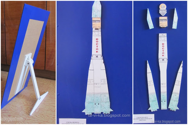 поделка на День космонавтики - корабль Восток