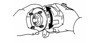 memeriksa pompa air pendingin mesin mobil