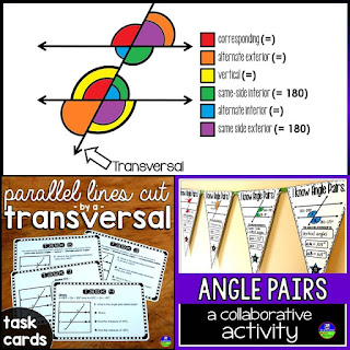 Parallel Lines and Transversals mini-bundle