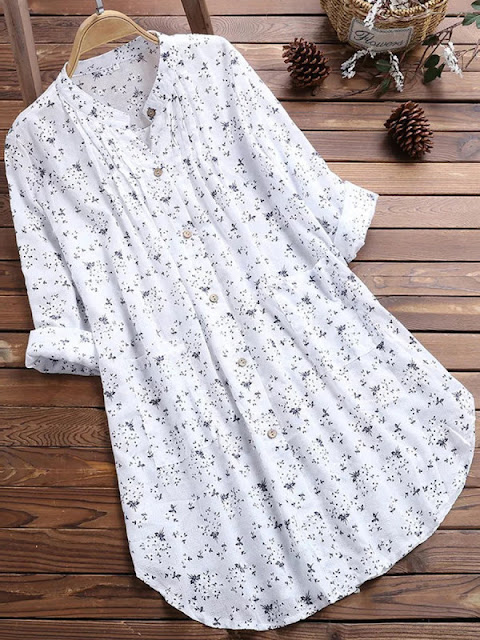 Regular Printed Long Sleeved Women Shirt