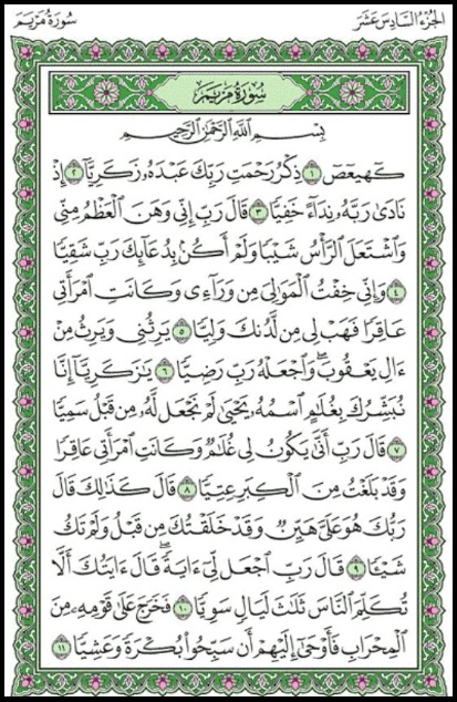 Surat Maryam 1 11 Dan Artinya