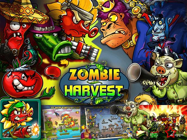 تحميل لعبة زومبي هارفست - Zombie Harvest - النباتات ضد الزومبي للأندرويد و IOS