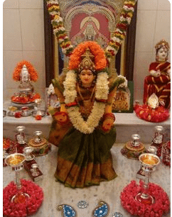varalakshmi idol puja at home