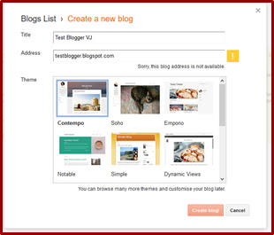 How to Create A Blog in Blogger in Telugu? Blogger VJ
