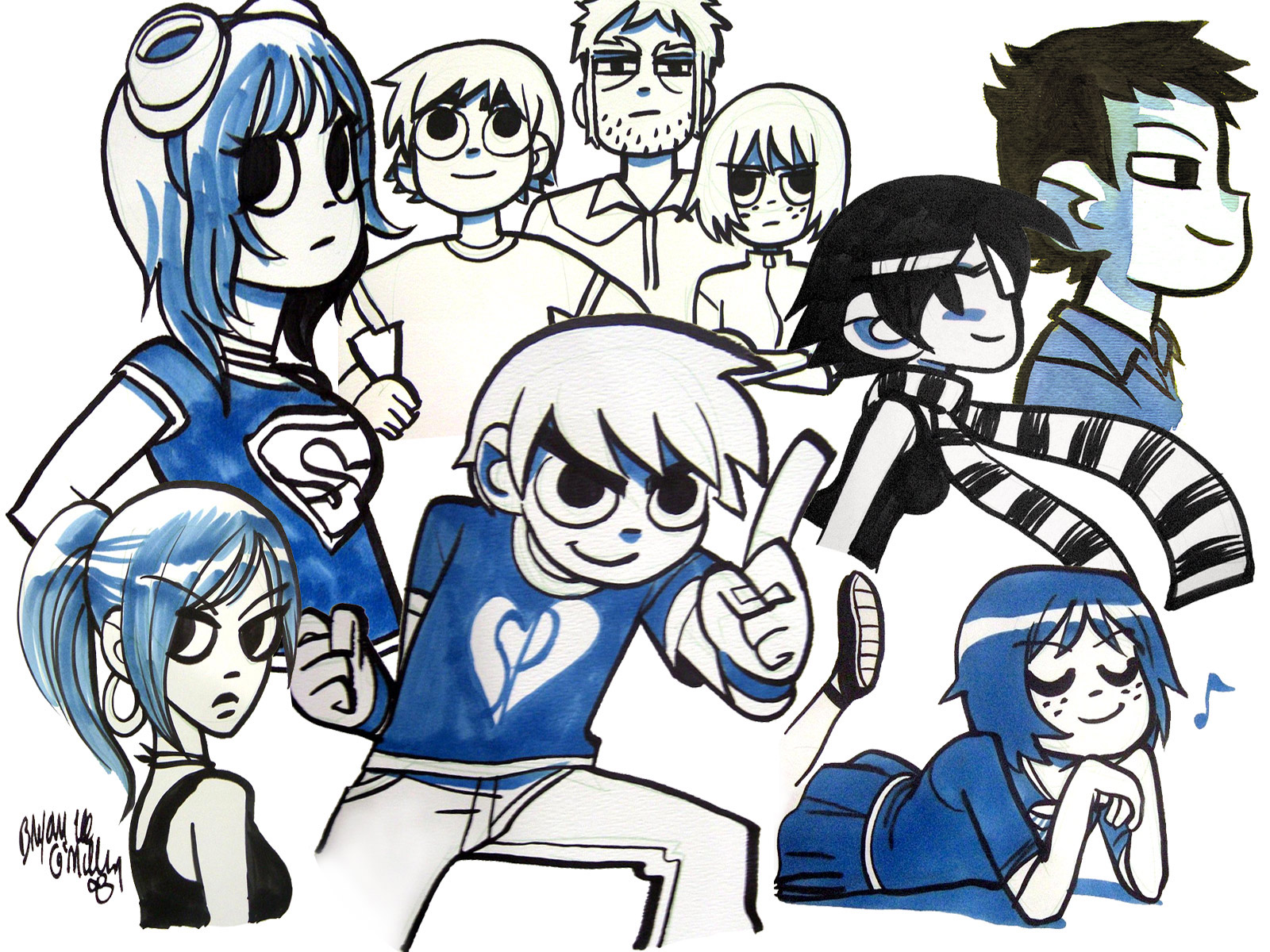 scott pilgrim wallpaper