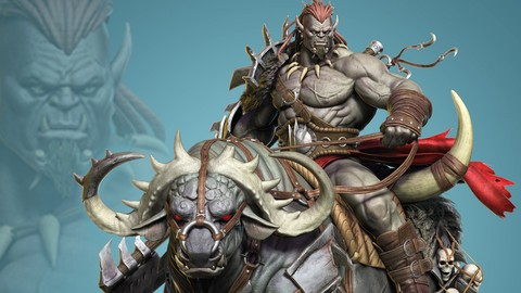 Orc Rider and Bull Creature Creation in Zbrush