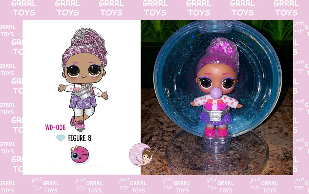 Figure 8 Glitter Globe series 006 ice-skater Winter Disco