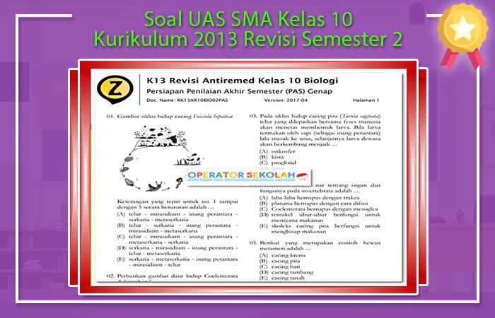 Soal UKK Kelas 10 Kurikulum 2013 Mata Pelajaran Lengkap