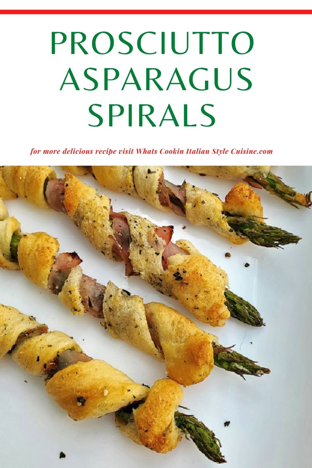 this is a pin on how to make dough wrapped asparagus spears