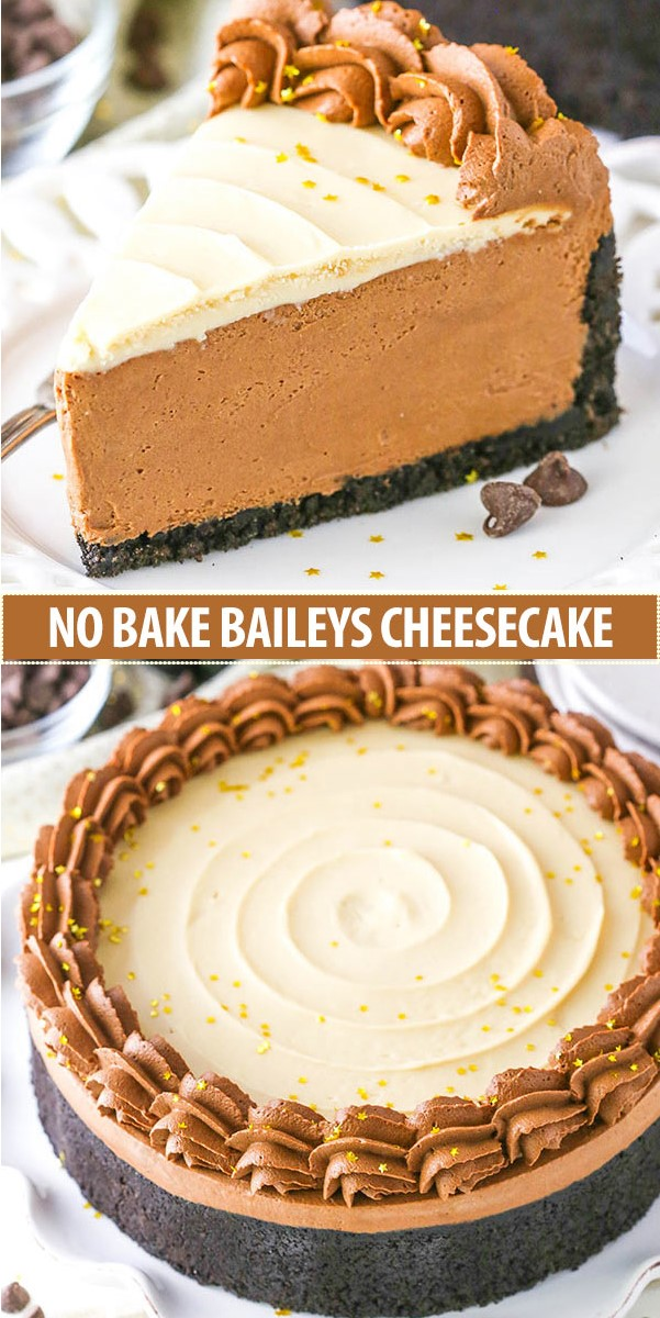 NO BAKE BAILEYS CHOCOLATE CHEESECAKE #cakerecipes