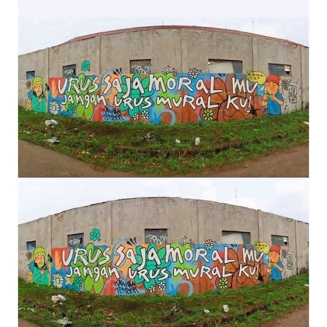 Gambar Mural ''Urus Saja Moral Mu, Jangan Urus Mural Ku!'' Hebohkan Dunia Maya