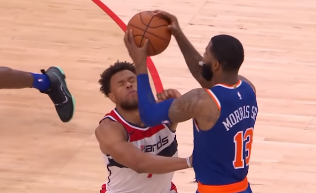 Marcus Morris slams opponent in head with basketball