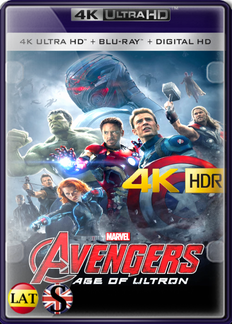 Vengadores: Era de Ultrón (2015) 4K UHD HDR LATINO/INGLES