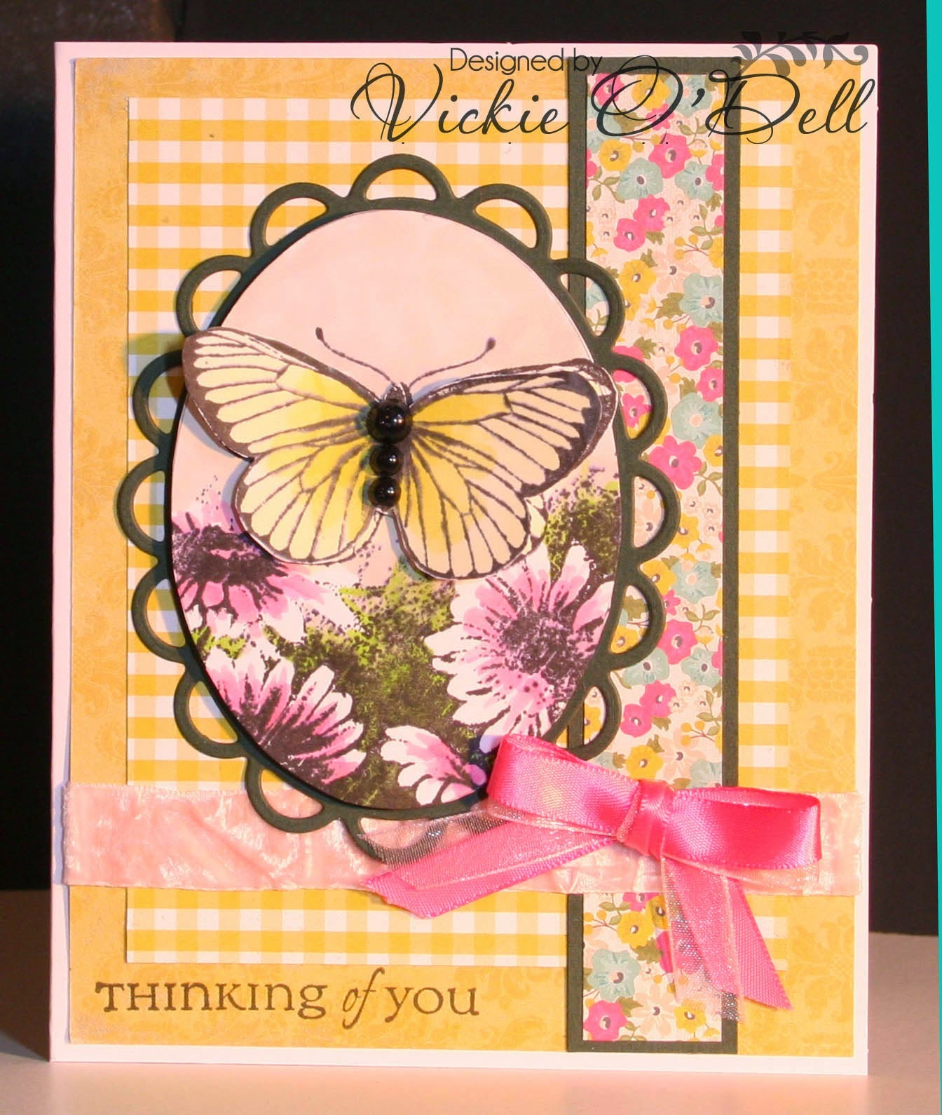 ODBD Butterfly Corner, ODBD Butterfly Single, ODBD All Occasion Sentiments, Card Designer Vickie O'Dell