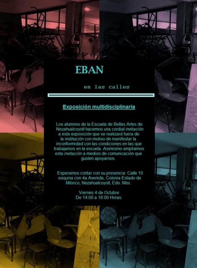 Alumnos de la Escuela de Bellas Artes de Nezahualcóyotl se manifiestan por medio de exposiciones artísticas