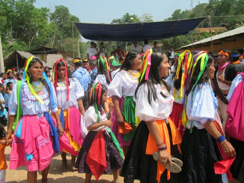 Población indigena en Lamas, Perú