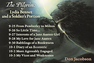 Blog Tour Schedule: The Pilgrim: Lydia Bennet and a Soldier's Portion by Don Jacobson