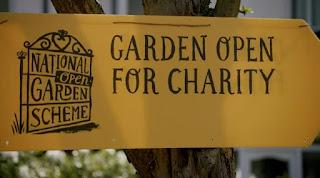 National Garden Scheme sign