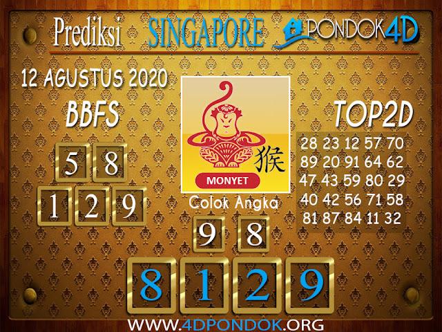 Prediksi Togel SINGAPORE PONDOK4D 12 AGUSTUS 2020