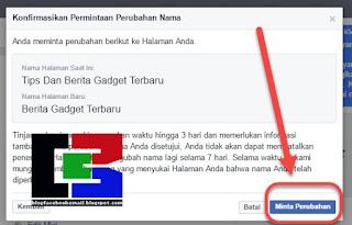 cara mengubah nama fanspage FB terupdate 2018