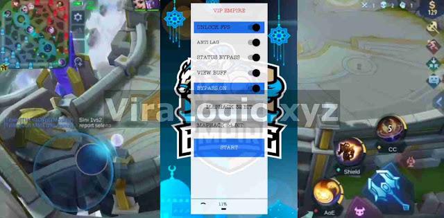 Apk VIP Empire ML| Radar Map, Unlock FPS, Anti Lag, New Bypass