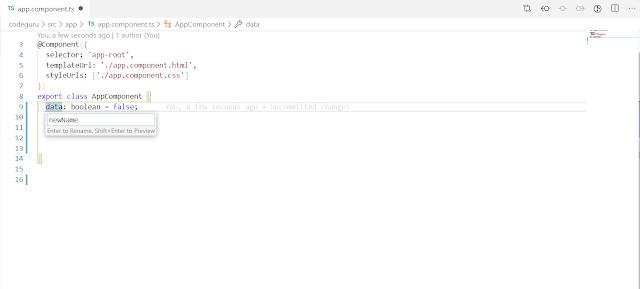 How to rename variable in Visual Studio Code
